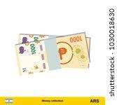 1000 peso banknote.  peso... | Shutterstock .eps vector #1030018630