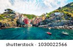 sunny summer view of ... | Shutterstock . vector #1030022566