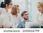 business team working on...   Shutterstock . vector #1030026799
