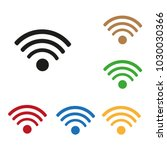 set of color internet icons | Shutterstock .eps vector #1030030366