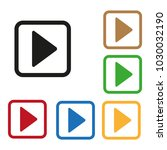 color play buttons | Shutterstock .eps vector #1030032190