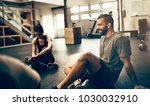 fit people in exercise gear... | Shutterstock . vector #1030032910
