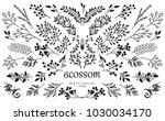 bloom collection. set of hand... | Shutterstock .eps vector #1030034170