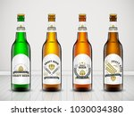 vector set  three dimensional... | Shutterstock .eps vector #1030034380