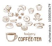 doodle hand drawn sketch... | Shutterstock .eps vector #1030035679