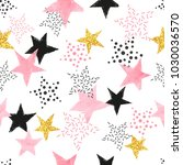 seamless stars pattern. vector... | Shutterstock .eps vector #1030036570