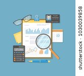 financial document with graphs... | Shutterstock .eps vector #1030039858