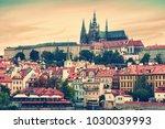 evening in prague. view of the ... | Shutterstock . vector #1030039993
