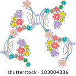 floral abstract background | Shutterstock .eps vector #103004336