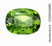 peridot gemstone cushion shape  ... | Shutterstock . vector #1030046080