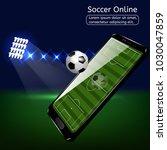 mobile football soccer. mobile... | Shutterstock .eps vector #1030047859