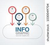 vector infographic template for ... | Shutterstock .eps vector #1030049704