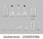 set of laboratory transparent... | Shutterstock .eps vector #1030053586
