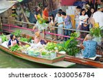 Small photo of Bangkok, Thailand - Feb 11, 2018: Peoples shopping local agricultural products at Lad Mayom Floating Market.