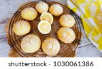 lemon crinkle cookies | Shutterstock . vector #1030061386