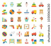 toy for children and baby icon...