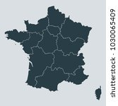 france map on gray background... | Shutterstock .eps vector #1030065409