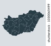 hungary map on gray background... | Shutterstock .eps vector #1030065499
