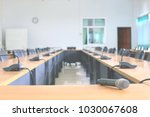 microphone in the conference... | Shutterstock . vector #1030067608