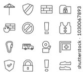 flat vector icon set   umbrella ... | Shutterstock .eps vector #1030067893