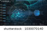 hi tech user interface head up... | Shutterstock . vector #1030070140