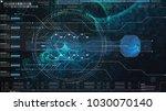 hi tech user interface head up... | Shutterstock . vector #1030070140