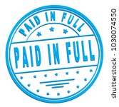"rubber stamp with text ""paid in ... 