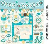 wedding s day scrapbook... | Shutterstock .eps vector #103007483