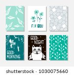 vector set of hand drawn... | Shutterstock .eps vector #1030075660