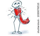 stick figure as a hero | Shutterstock .eps vector #1030078510