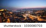 cityscape of lisbon  portugal... | Shutterstock . vector #1030080703