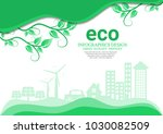 ecology connection concept...   Shutterstock .eps vector #1030082509