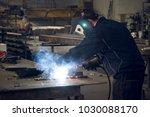 weld metal man industrial   Shutterstock . vector #1030088170