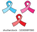 pretty support ribbons | Shutterstock .eps vector #1030089580