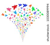 multicolored yen fireworks...   Shutterstock .eps vector #1030089994
