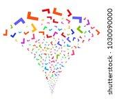 multi colored yes fireworks...   Shutterstock .eps vector #1030090000