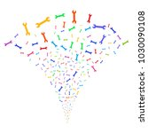 multicolored wrench exploding...   Shutterstock .eps vector #1030090108