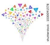 multicolored warning stream...   Shutterstock .eps vector #1030091578