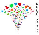 multi colored valentine petals...   Shutterstock .eps vector #1030093858
