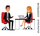 group of businespeople in the... | Shutterstock .eps vector #1030098148