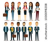 group of businespeople with... | Shutterstock .eps vector #1030098208