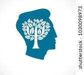 psychology concept vector logo... | Shutterstock .eps vector #1030098973