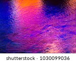 colorful light reflection on... | Shutterstock . vector #1030099036