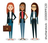 group of businesswoman with... | Shutterstock .eps vector #1030099120