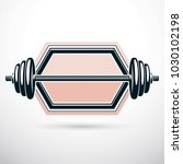 barbell vector illustration... | Shutterstock .eps vector #1030102198