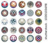 set of vector low poly... | Shutterstock .eps vector #1030103698