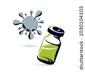 vector medical vial... | Shutterstock .eps vector #1030104103
