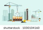 building work process with... | Shutterstock . vector #1030104160