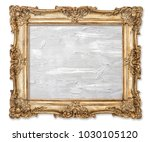 golden picture frame with oil... | Shutterstock . vector #1030105120