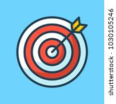 target with arrow in the middle ... | Shutterstock .eps vector #1030105246